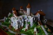 Zamek w Ojcowie - makieta przedstawiają dawny wygląd
